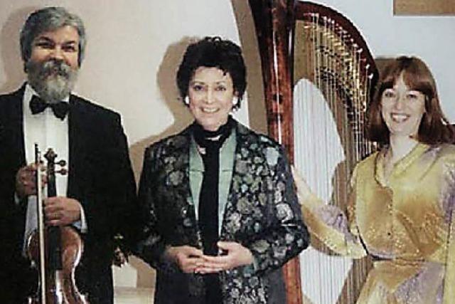 Violine, Flöte und Harfe