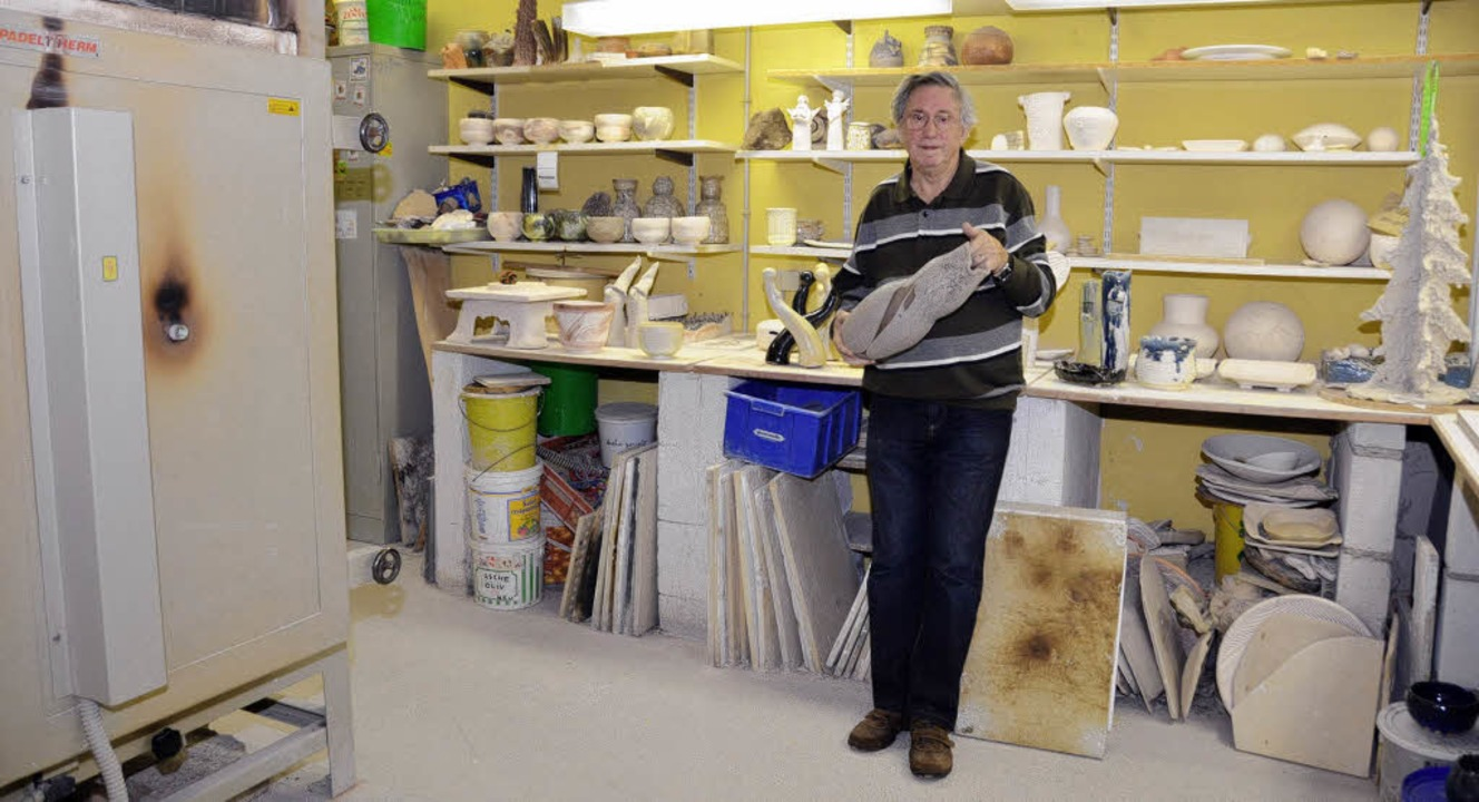 Rudi Rothenberger, Keramikatelier, Geb...weichen müssen auch die alte Wäscherei  | Foto: Ralf Burgmaier