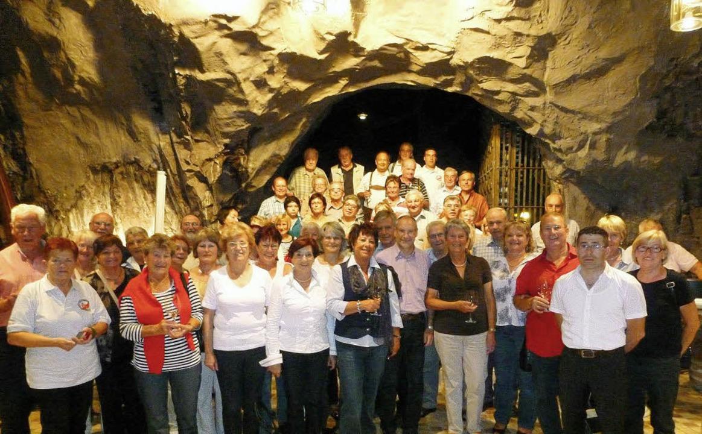 Im Felsenkeller empfangen wurde der Rheinfelder Freundeskreis Neumarkt.     Foto: privat