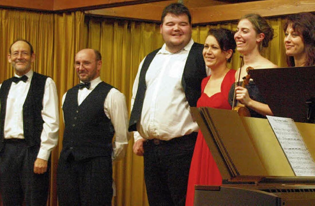 Christoph Oser, Andreas Wasmer, Haymo ...nommene Konzert im Görwihler Pfarrsaal  | Foto: Karin Stöckl-Steinebrunner