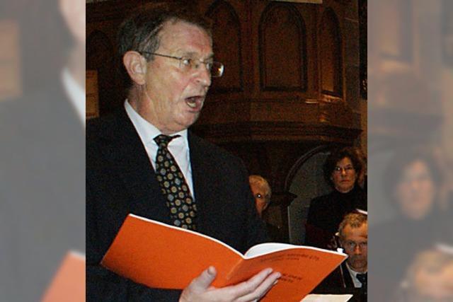 Dieter Zeh beeindruckt selbst mit seiner Sangeskunst
