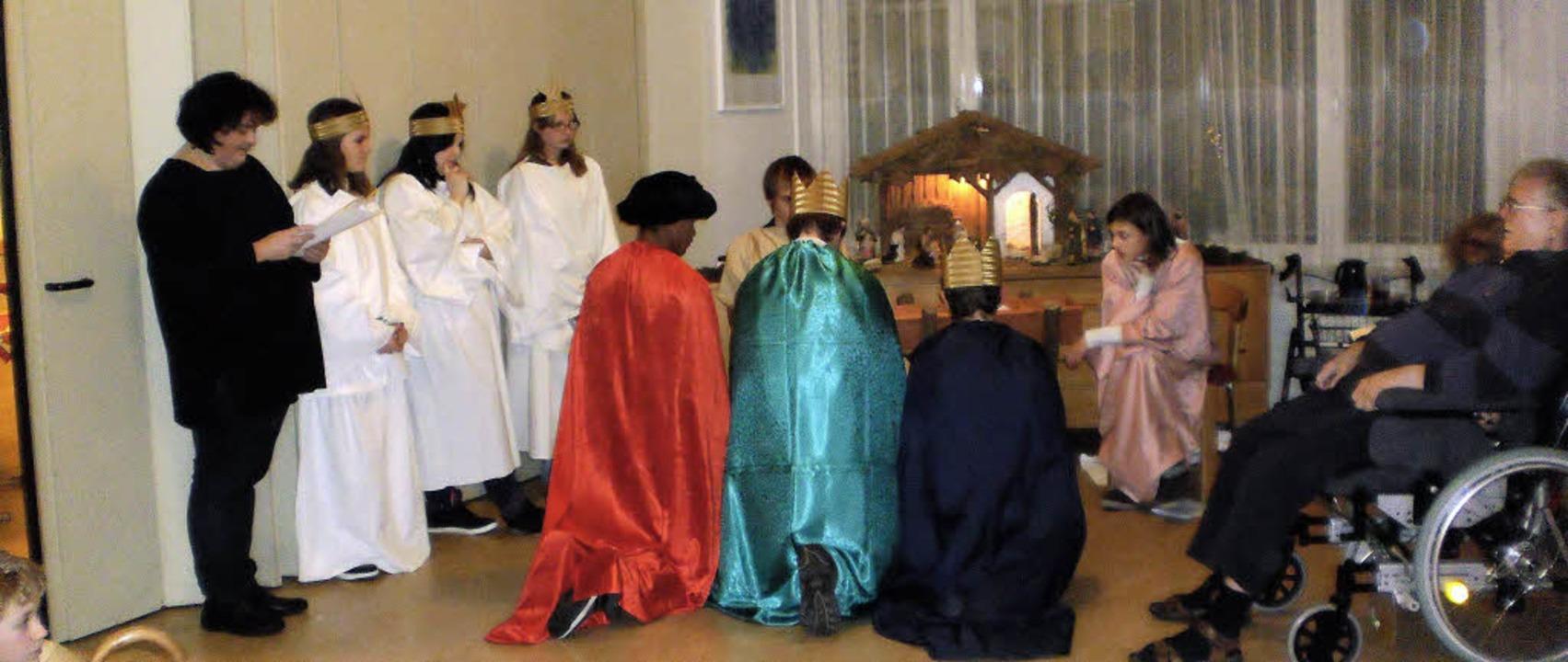 Kinder der Tüllinger Höhe gestalteten ...ihnachtsfeier im Georg-Reinhardt-Haus.    Foto: Privat