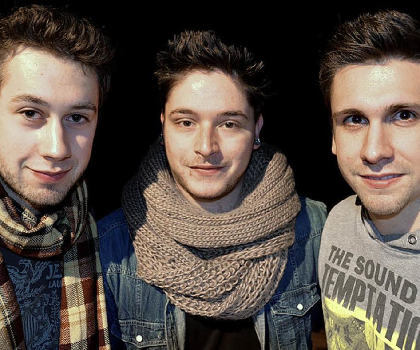 Severin Ebner, Daniele Cuviello und Pa... heute Abend im Bad Säckinger Kursaal.  | Foto: krug
