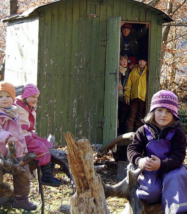 Der Waldkindergarten feierte 10-jähriges Bestehen.     Foto: Jäger
