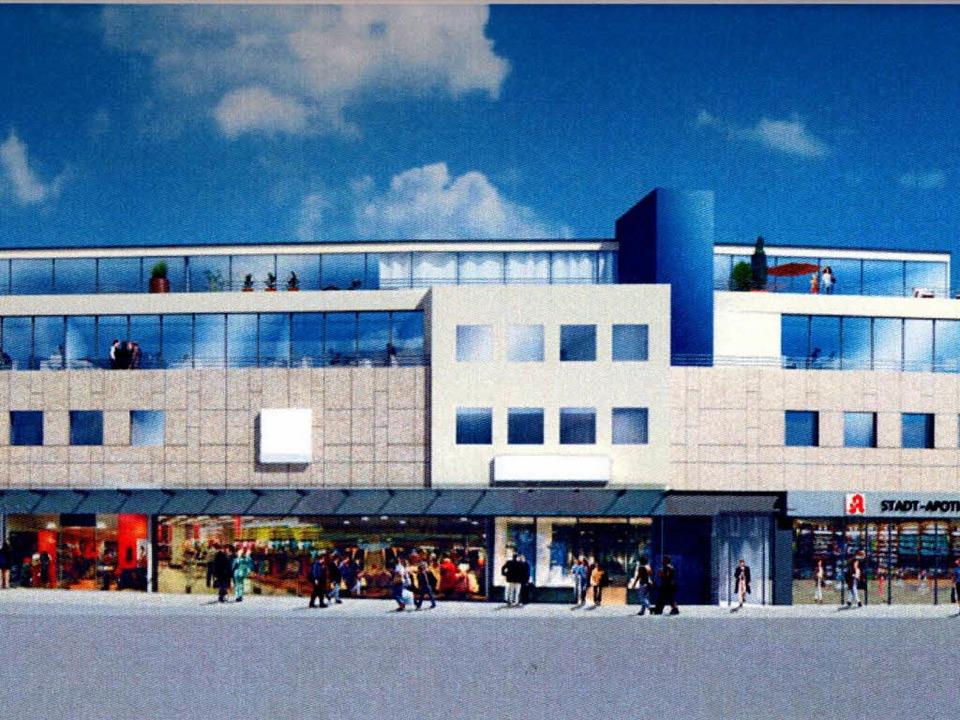 Ein erster Entwurf für eine mögliche Fassadengestaltung des Investors.  | Foto: Privat