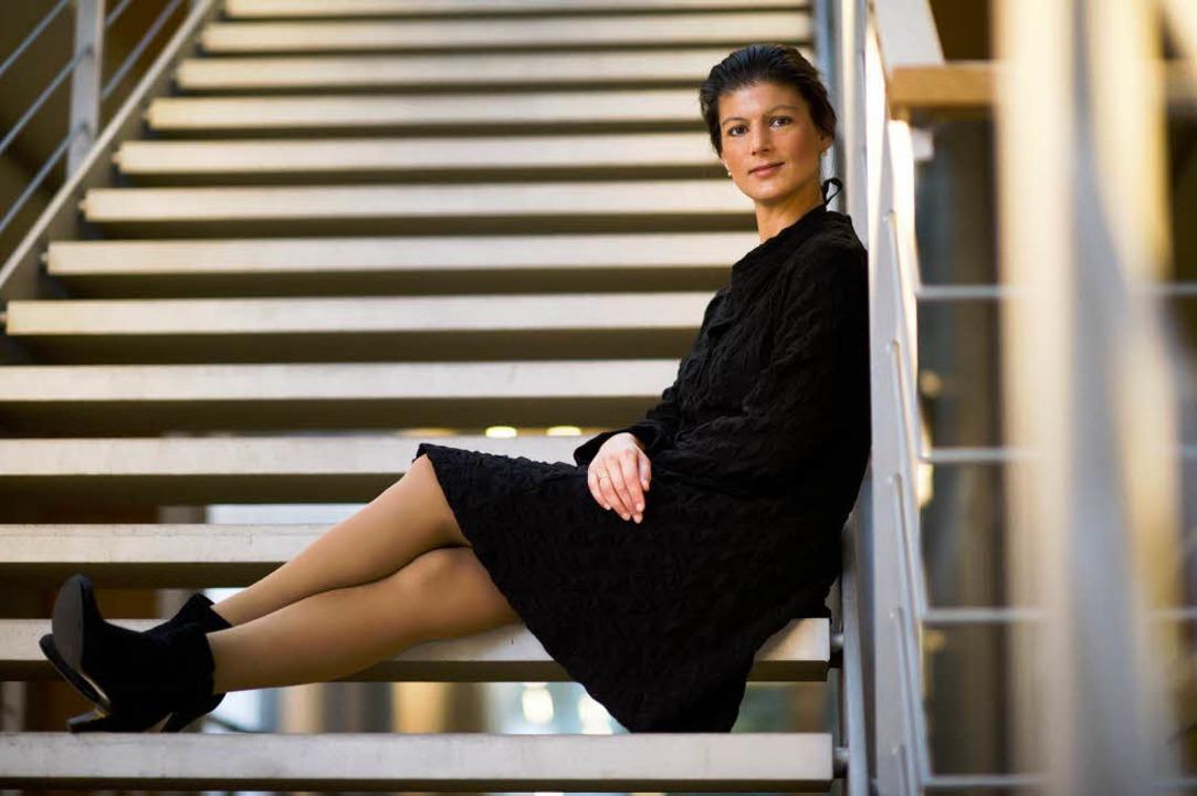 Sahra Wagenknecht kann abwarten.  | Foto: dapd