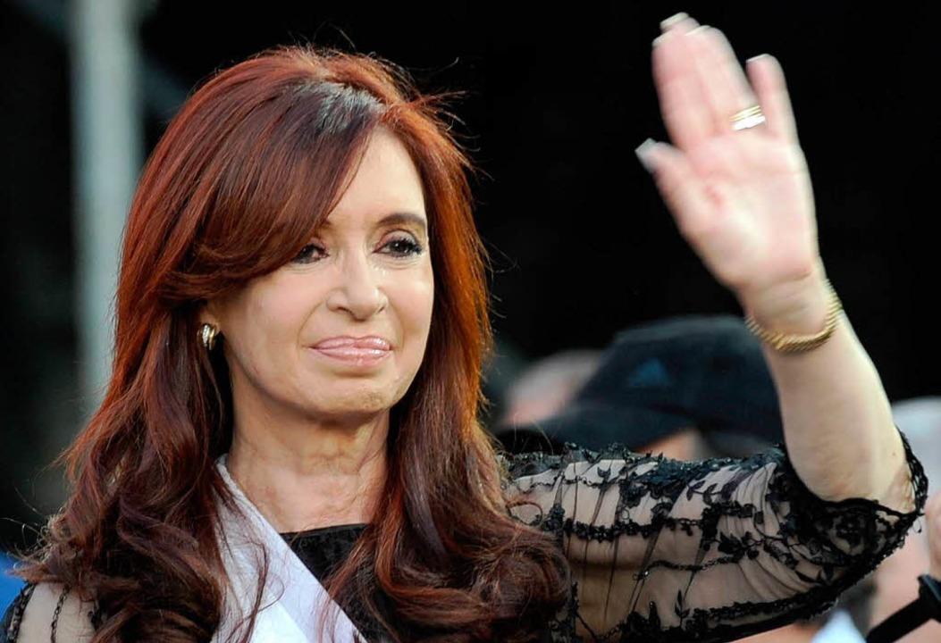 Argentiniens Staatspräsidentin Cristin...h Ausländer einen Riegel vorgeschoben.    Foto: AFP