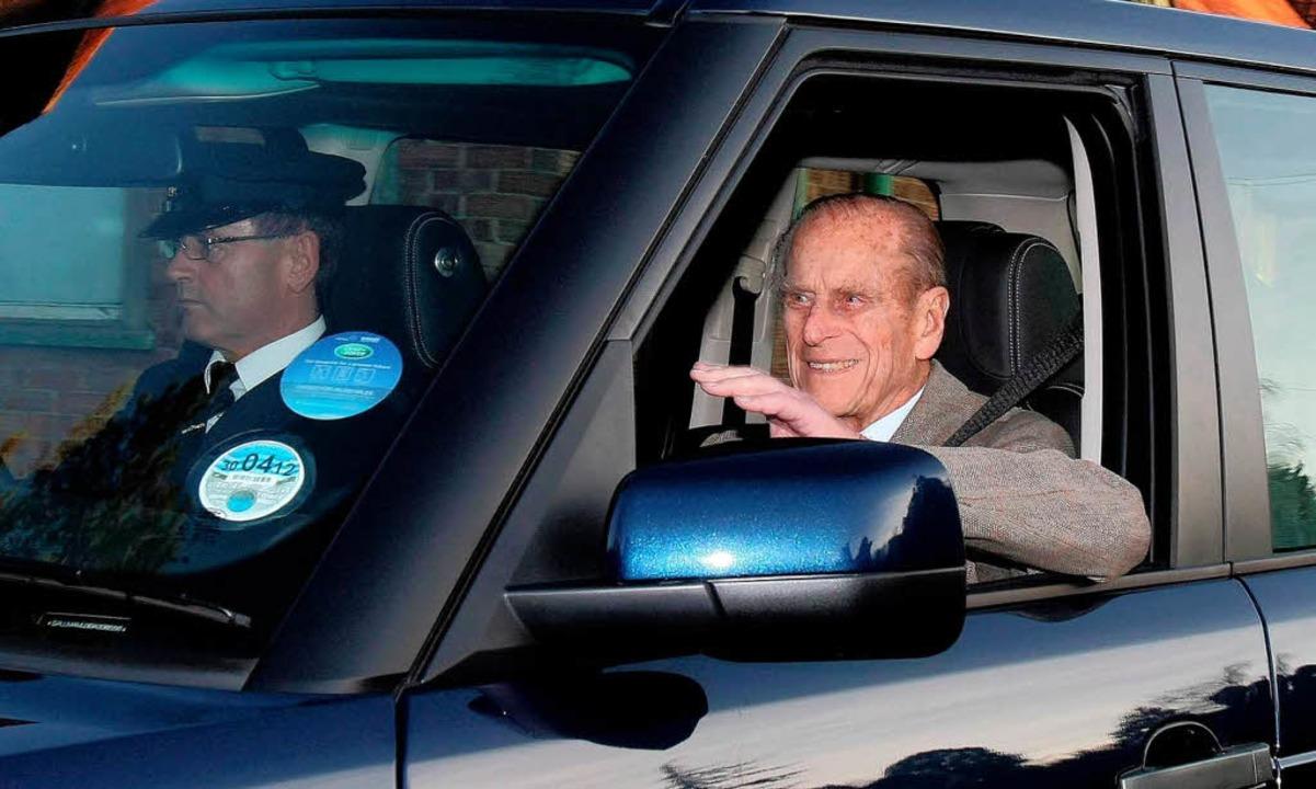 Auf dem Weg nach Hause: Prinz Philip  | Foto: dpa
