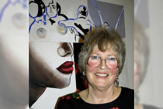 Margarete Finner aus Titisee stellt ihrer Bilder in Hinterzarten aus
