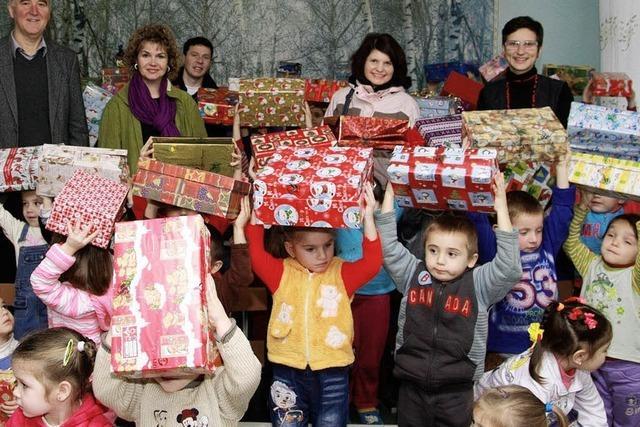 1684 Päckchen an arme Kinder in Moldawien verteilt