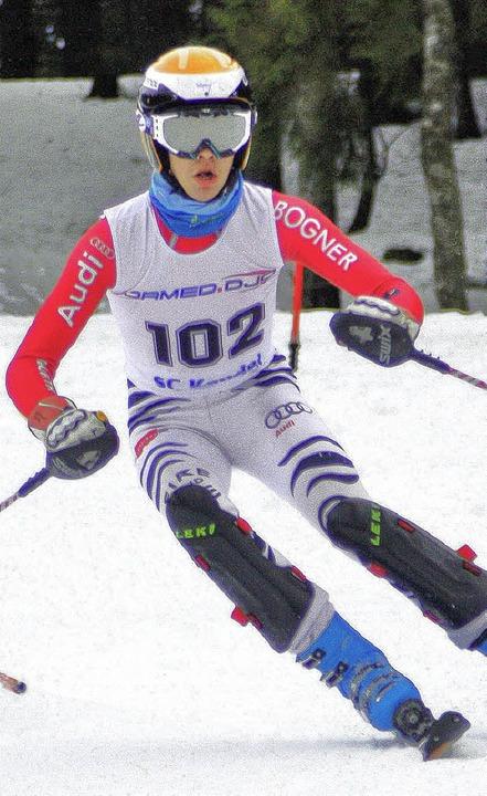Tobias Baur von der Skizunft wurde Bad...bergischer Schülermeister im Slalom.    | Foto: Herzog