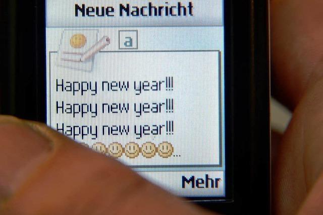 310 Millionen SMS an Silvester