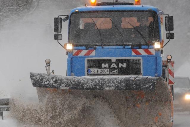Wetterdienst warnt vor starken Schneefällen