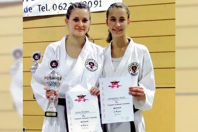 Erfolgreiche Karatekämpfer