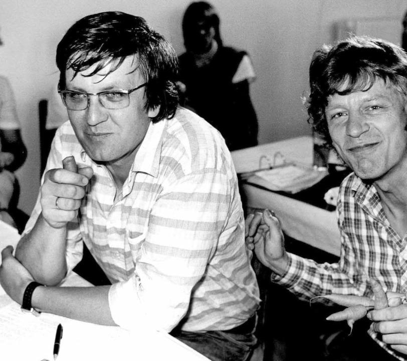 Als  grüne Großväter jung waren: Krets...inks) mit Wolf-Dieter Hasenclever 1983  | Foto: A9999 DB Obertreis