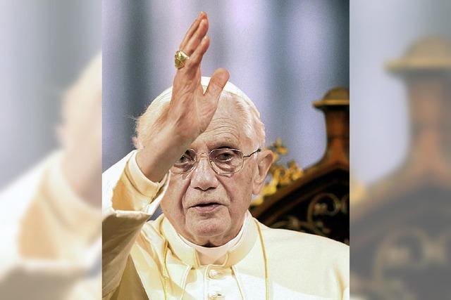 Die Sonne wärmt den Papst