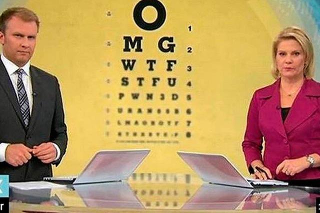 Derbe SMS-Kürzel im Staatsfernsehen