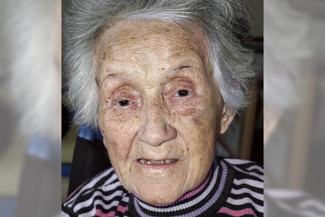 Herta Schindler wird heute 100