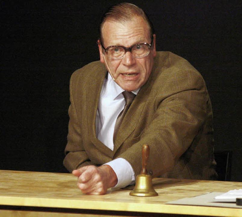 Lothar Dombrowski schreckt vor keiner ...lattacke zurück, ebenso wenig …   | Foto: Wolfgang Grabherr