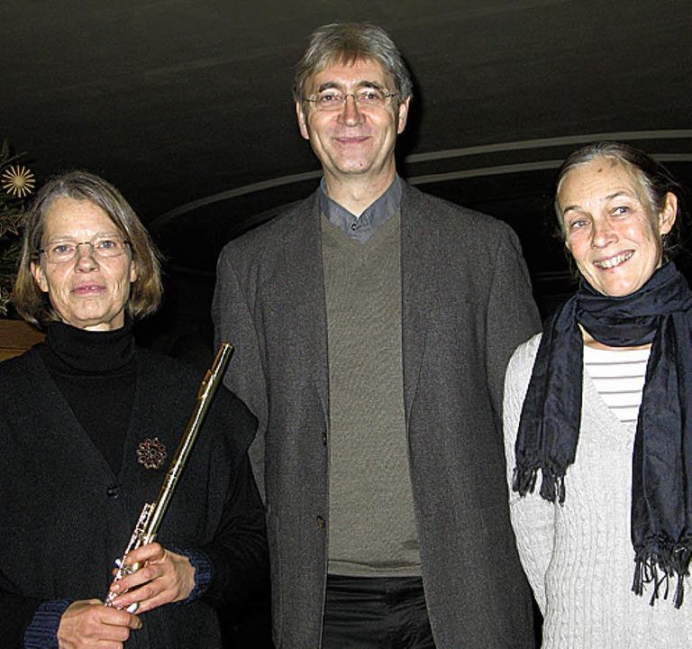 Angelika Graubner, Berthold Weiger und...ten gemeinsam in der Bernauer Kirche.   | Foto: Ulrike Spiegelhalter