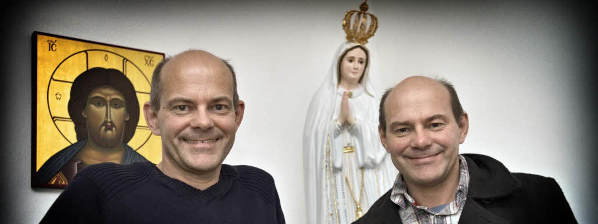 Sie wollen urchristliche Geradlinigkei...ngsbrüder Bernhard und Martin Müller.   | Foto: martin storz