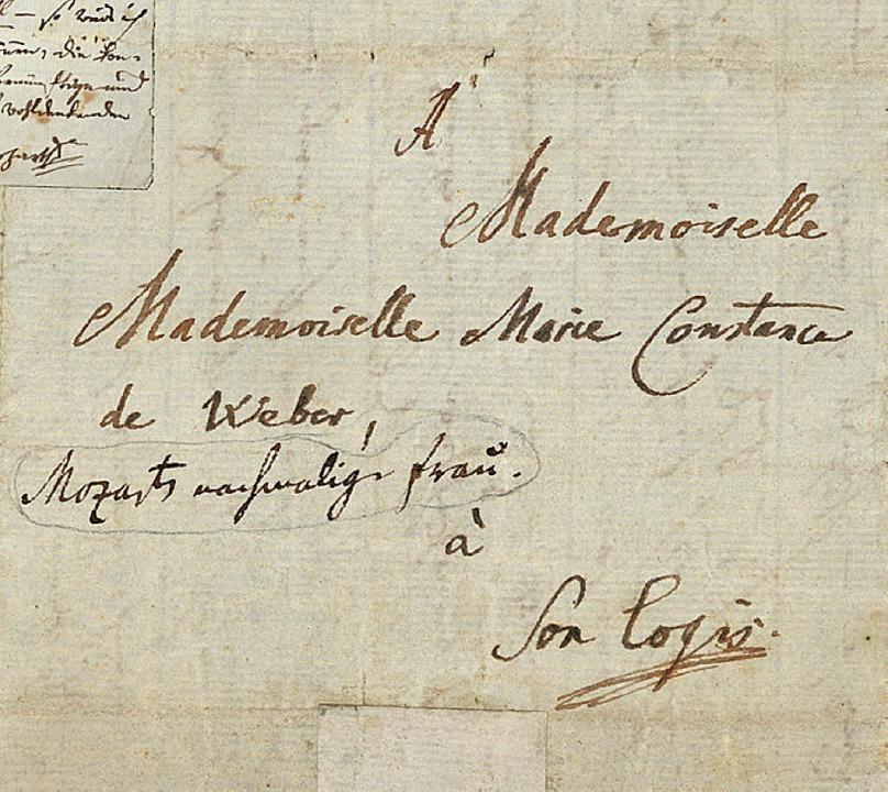 Mozart schreibt an Constanze (1782).  | Foto: --