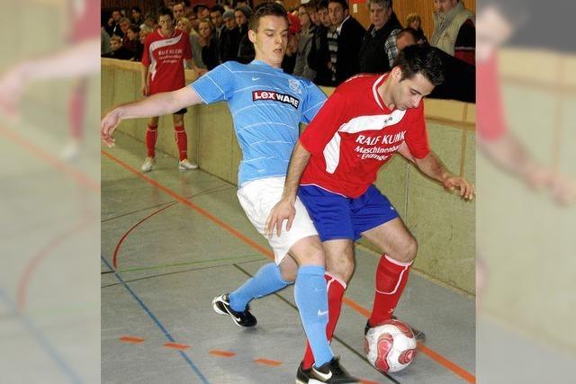 Ungetrübte Fußball-Freude unterm Hallendach