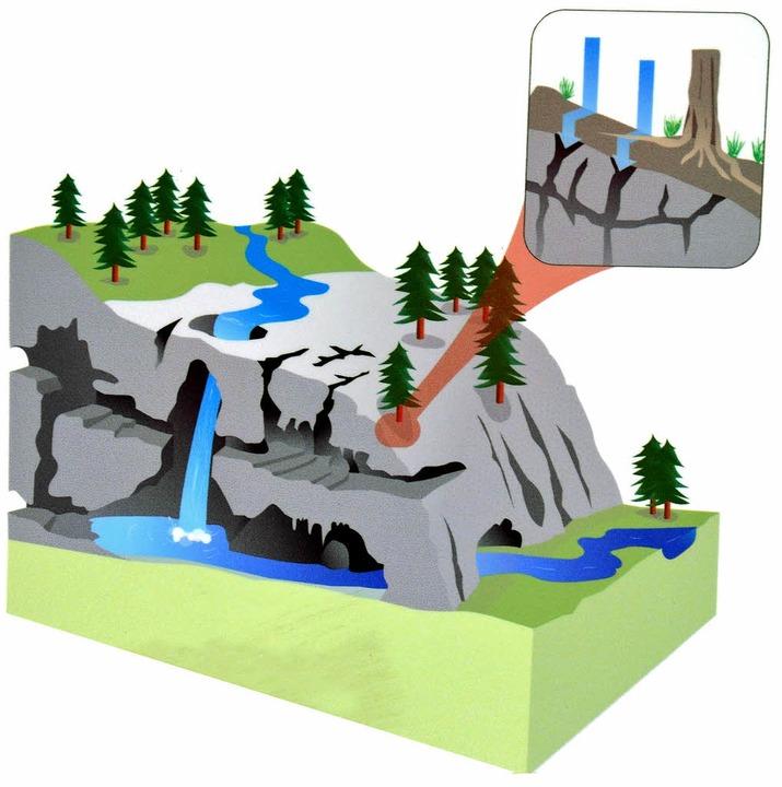 Unterirdischer Speicher: Ein geologischer Querschnitt des Eiemer Sees.   | Foto: Grafik: Kreis-Infotafel