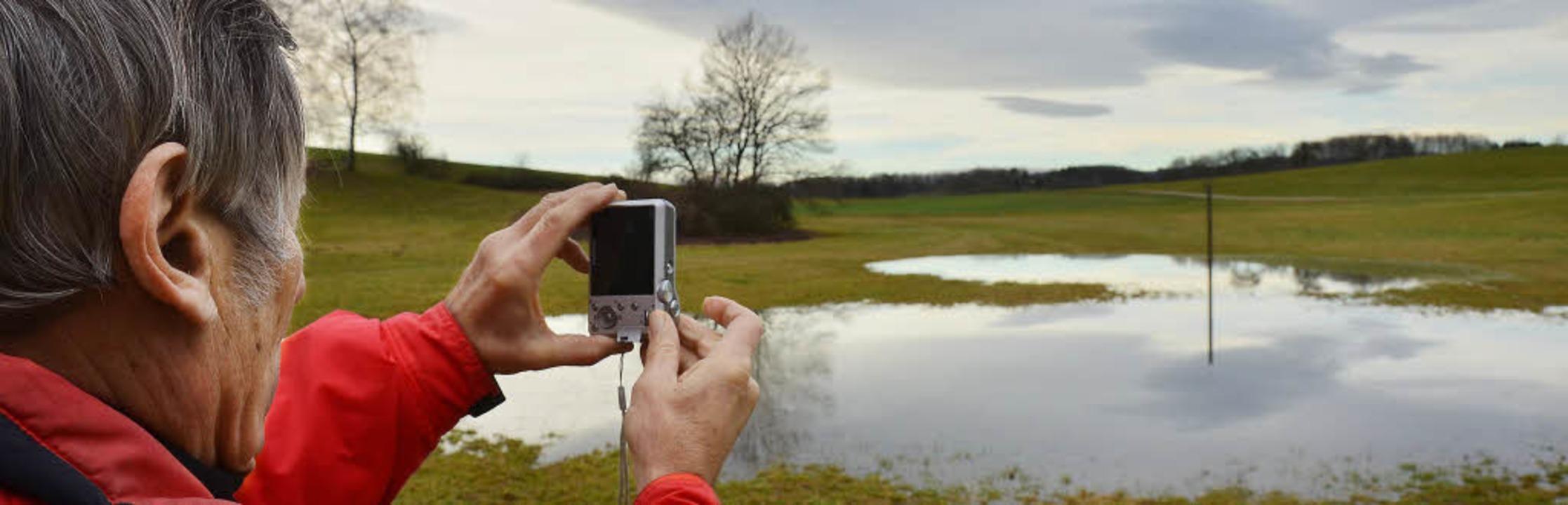 Immer im Bilde über den Zustand des Se...gs, es regnet die nächsten Tage noch.   | Foto: André Hönig