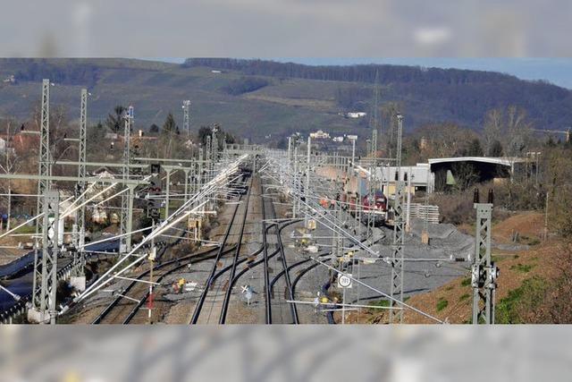 Jetzt werden Gleise gelegt