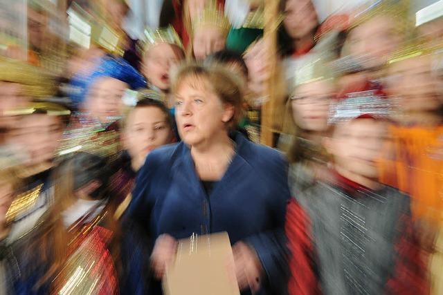 Vier Könige aus Schutterwald bei Angela Merkel