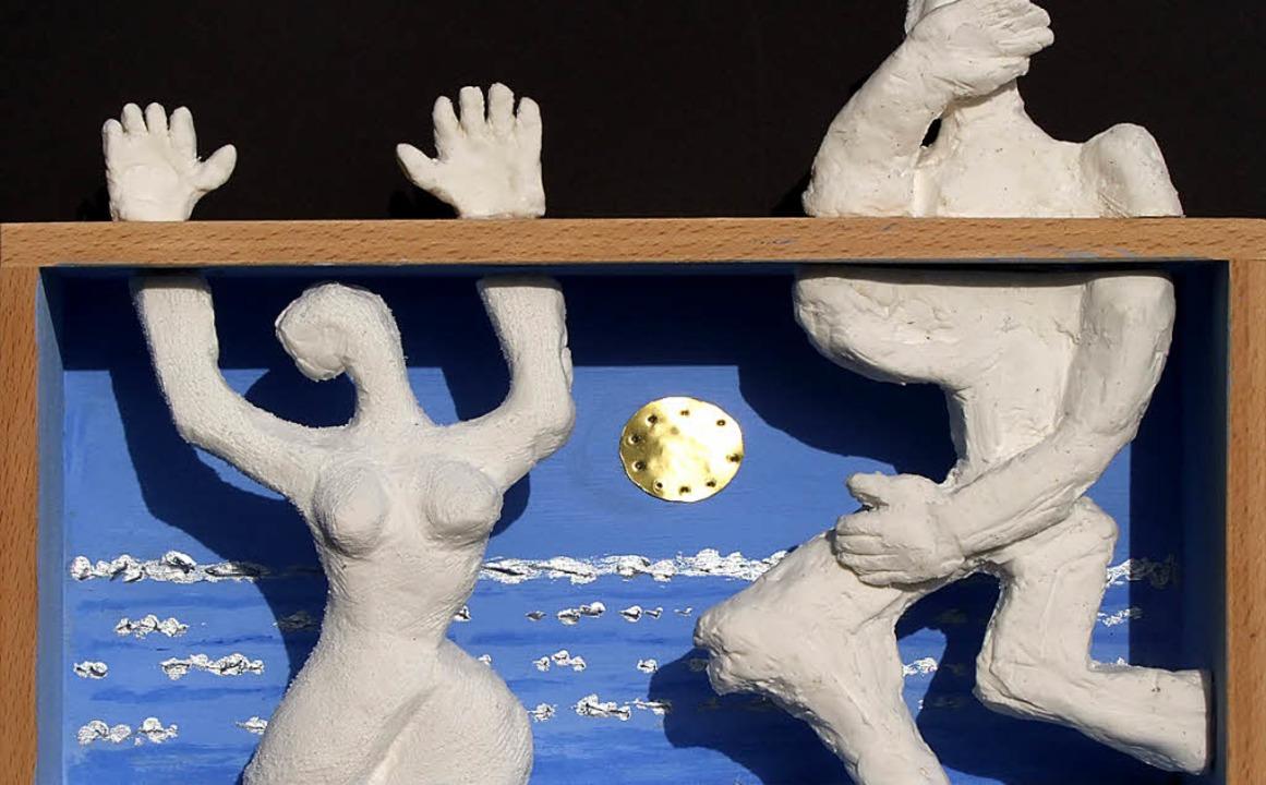 Kunstwerke des Künstlers Hal Jos sind derzeit im Rathaus in Ihringen zu sehen.   | Foto: privat