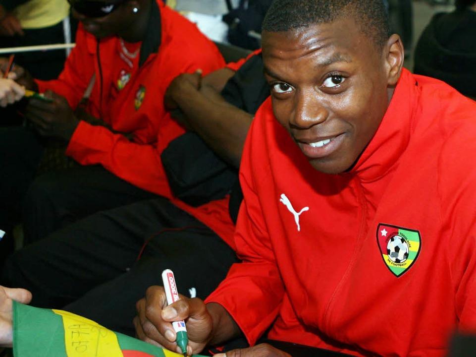 Karim Guédé gibt als Fußball-Nationals...z kam er wegen einer Verletzung nicht.  | Foto: Verwendung weltweit, usage worldwide