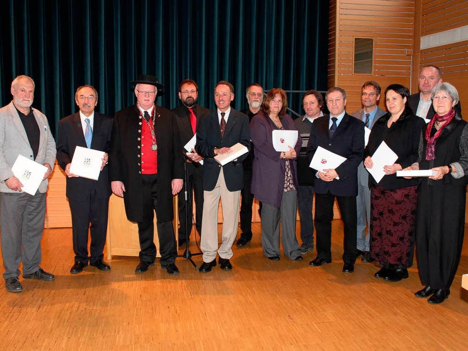 Auszeichnungen gab es die für langjähr... für aktive Mitglieder in den Gremien.  | Foto: Mario Schöneberg