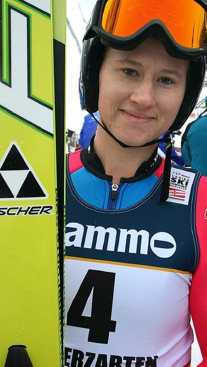 Ramona Straub vom SC Langenordnach gewann am Samstag fünf Weltcuppunkte.   | Foto: maurer