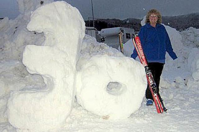 Viele Skifahrer feierten mit Heidi Thissen
