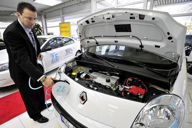 Kfz-Handel gibt bei Elektroautos Gas