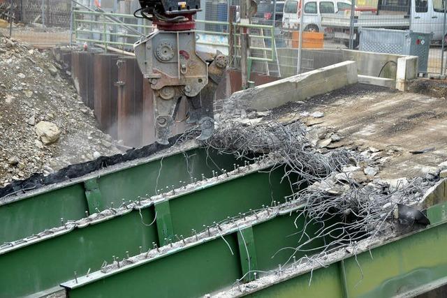 Die Baubrücke hat ausgedient