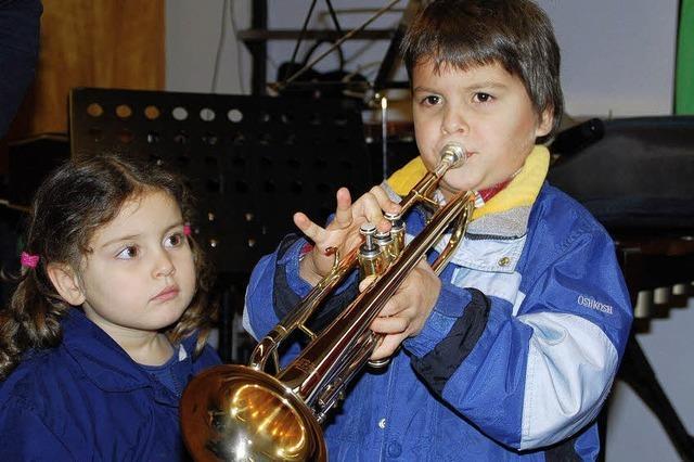Die Musikinstrumente sprechen für sich