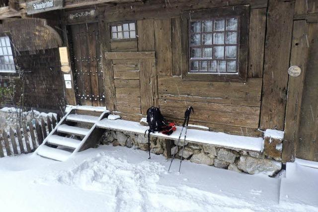 Schneeschuhtour auf dem Schauinsland: Wenn der Schnee am Schuh klebt