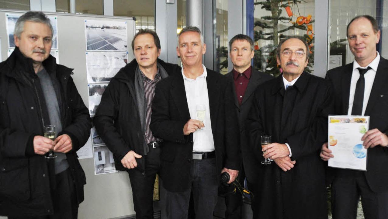 Der Vorstand der Bürgerenergiegenossen...enschaft beigetretene Martin Kopfmann.  | Foto: julius steckmeister