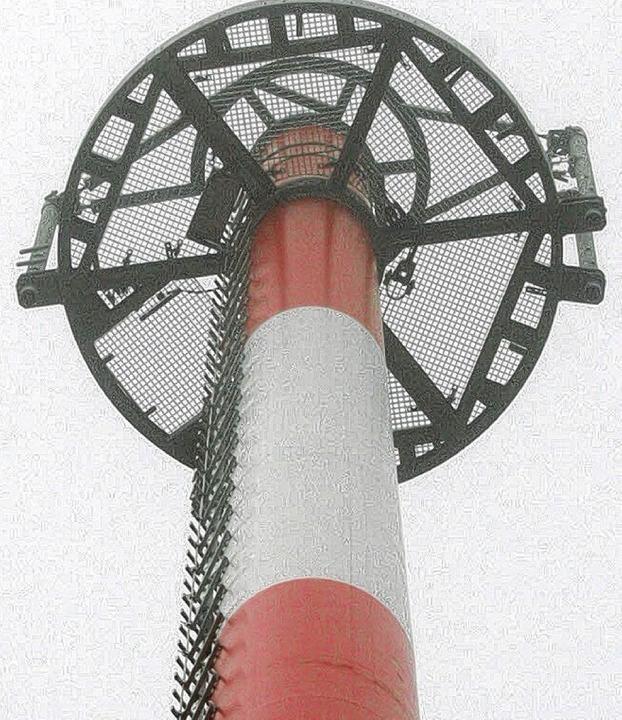 Signal in der Landschaft: Der Bau des ..., demnächst wird er in Betrieb gehen.   | Foto: Gerd Sutter