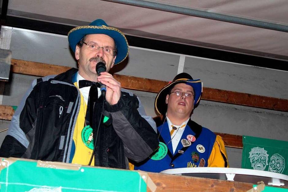 Bruno Schmidt und Obrezunftmeister Stefan Rümmele (Foto: Hermann Jacob)