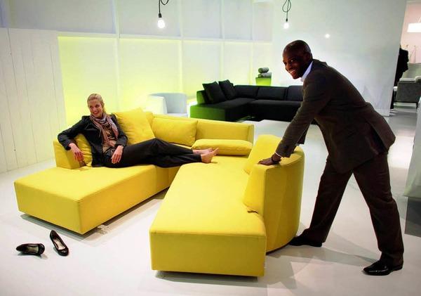 fotos wohntrends von der m belmesse panorama fotogalerien badische zeitung. Black Bedroom Furniture Sets. Home Design Ideas