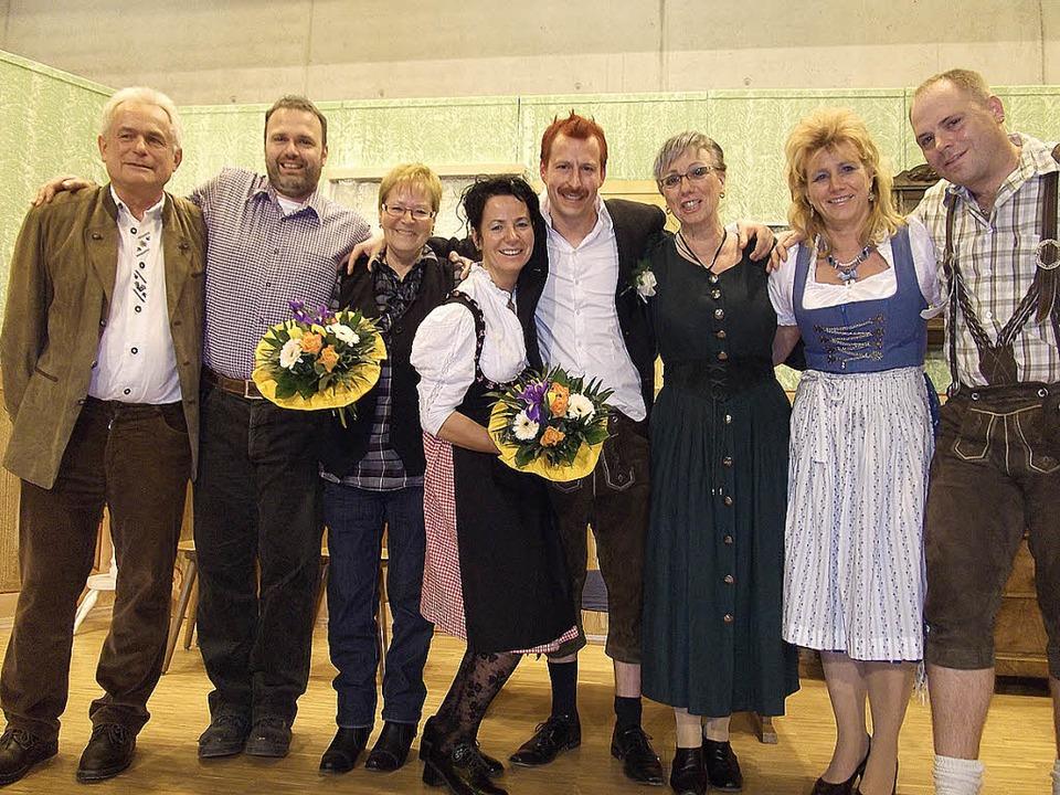 Sie unterhielten die Zuschauer (von li...kler, Susanne Seywald, Johannes Maier     Foto: privat