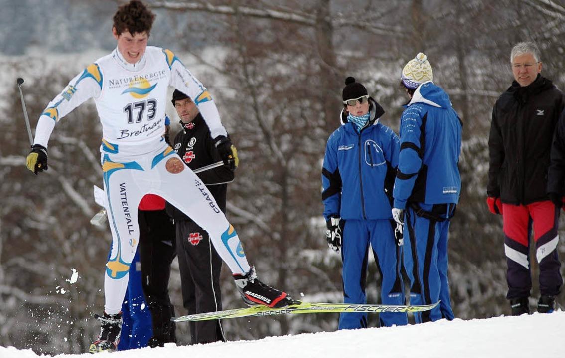 Jonas Löffler vom SC St. Märgen, hier ...anischen Langlaufmeisterschaften auf.   | Foto: ruoff