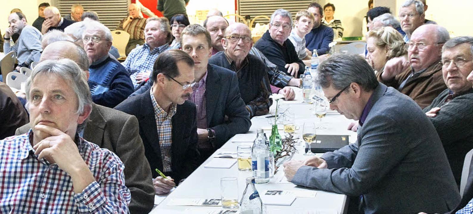 Bereichsversammlung Breisgau des Badis...ute über Neues rund ums Thema Weinbau.    Foto: Ilona Hüge