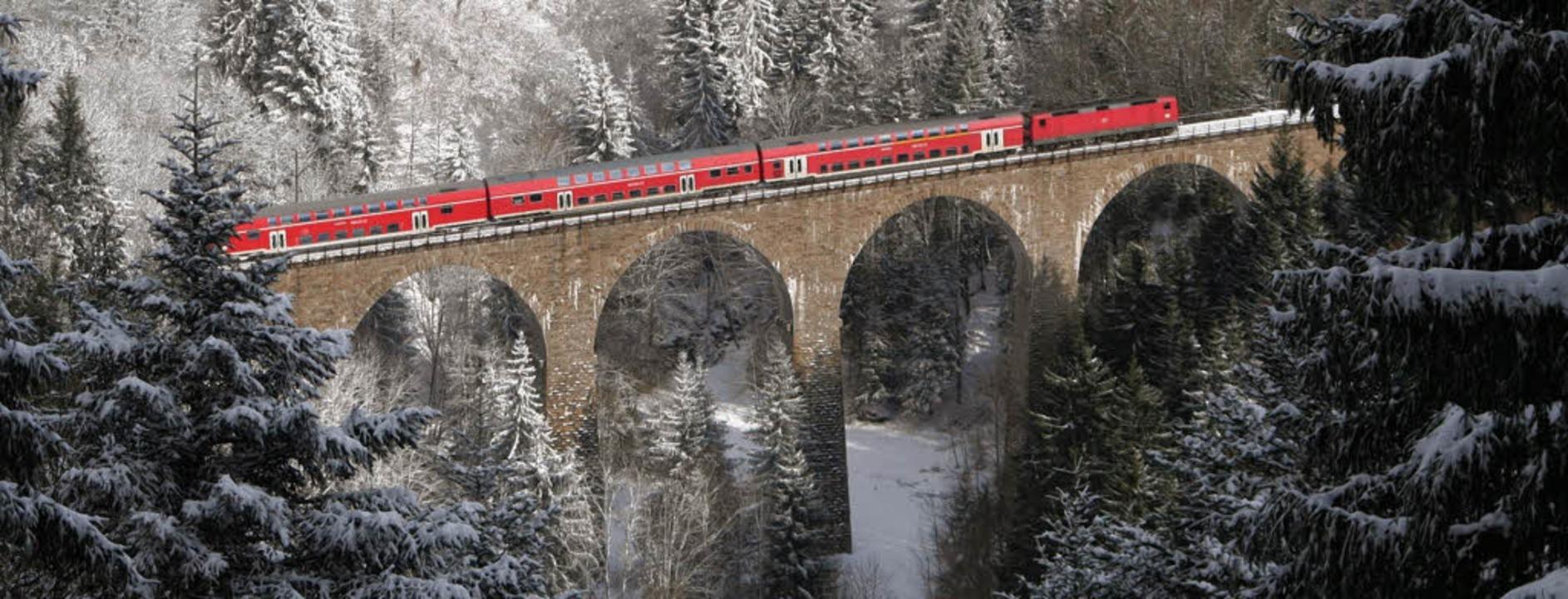 Eine der steilsten Bahnstrecken Deutsc...d zwei Jahre später wieder aufgebaut.     Foto: Hans-Peter Ziesmer