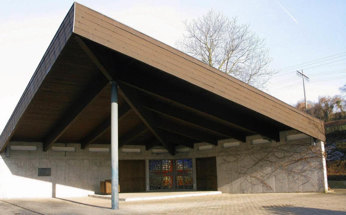 Friedhofshalle Schliengen soll saniert und erweitert werden    Foto: Dorothee Philipp