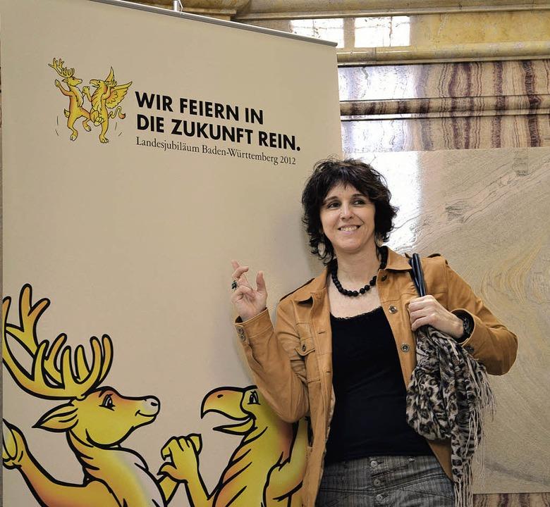 Die Bad Bellinger Künstlerin Petra Müller in Stuttgart   | Foto: BZ